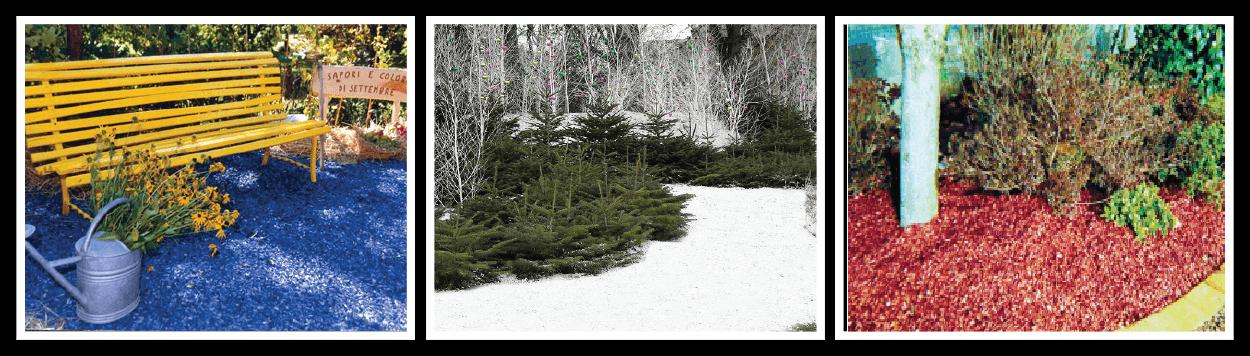 ORGACOLOR high quality dust free-decorative colourful mulch, blue mulch, white mulch, red mulch