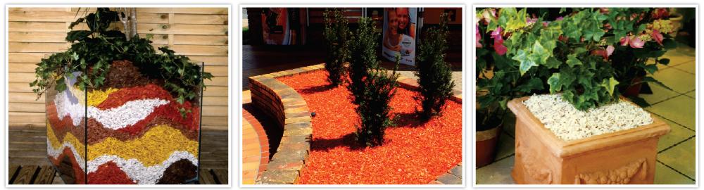ORGACOLOR decorative colourful coloured mulch