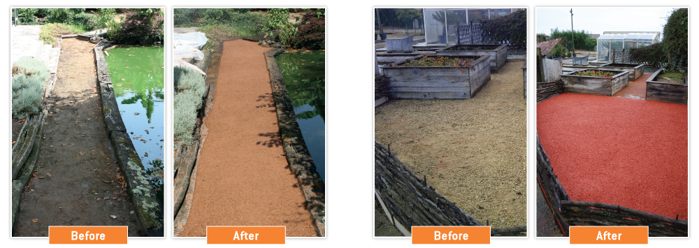 PERMEO colourful clean drainage areas Before After