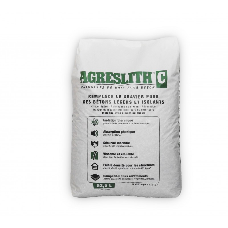 AGRESLITH-C : mineralized wood aggregates