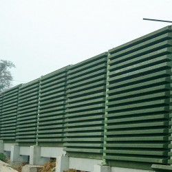 Stabilized wood aggregates for noise barriers