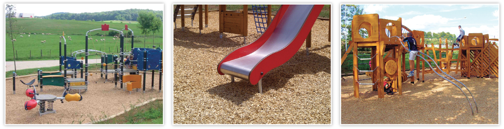 LUDOSOL shock absorbing wood chips for playground surfaces