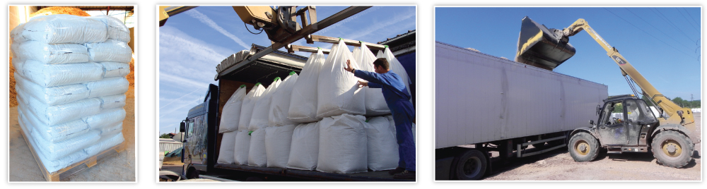 packaging options - in bag in pallet, in big bags, in bulk