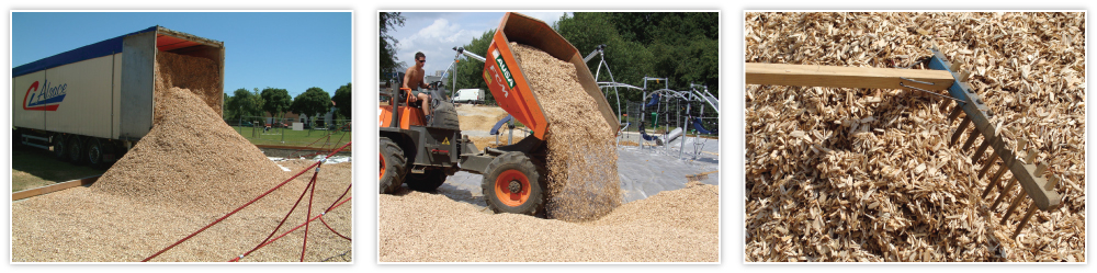 LUDOSOL impact absorbing wood chips for playgrounds Implementation