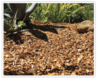 Copeo Naturel : Paillage décoratif à base de chataignier. Parfaitement calibré et longue durée de vie