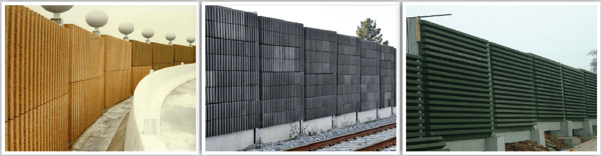 Noise barriers with AGRESLITH-C wood aggregates